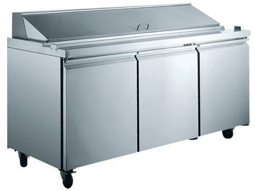 5.8KW / 220V 300L Komersial Kulkas Freezer Salad Bar 1788 * 750 * 1080mm
