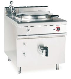 JUSTA Gas Indirect Jacket Boiling Pan Commercial Kitchen Equipments, Soup Cooker Machine